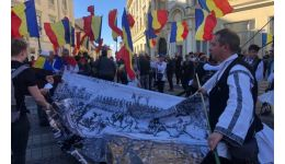 "Read more: Protest la Sibiu. ""Jos statuia!"""