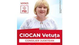 Read more: Vetuța Ciocan, candidat PSD la funcția de consilier județean