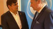 Europarlamentarul Laurențiu Rebega, un schimb de opinii cu viitorul ambasador al SUA la Uniunea Europeană